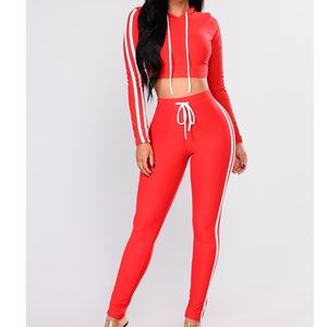 Red Legging Set